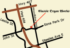 Map to Classic Organ Works